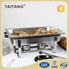 Hotel restaurant supplies stainless steel glass lid chafing dish electric cookware set