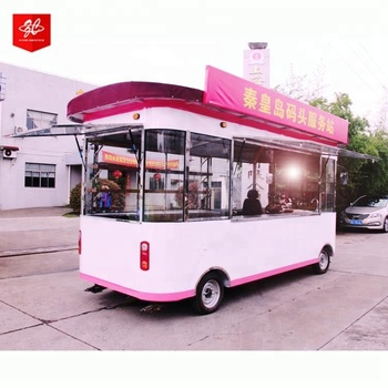 Wholesale high quality van electric Hand push fast mobile food cart