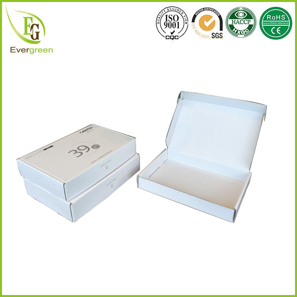 one piece folding custom logo printed carton packaging for garments