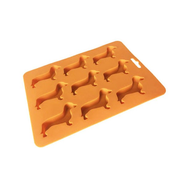 Wholesale BPA free FDA approved Dachshund Silicone Ice Cube Tray