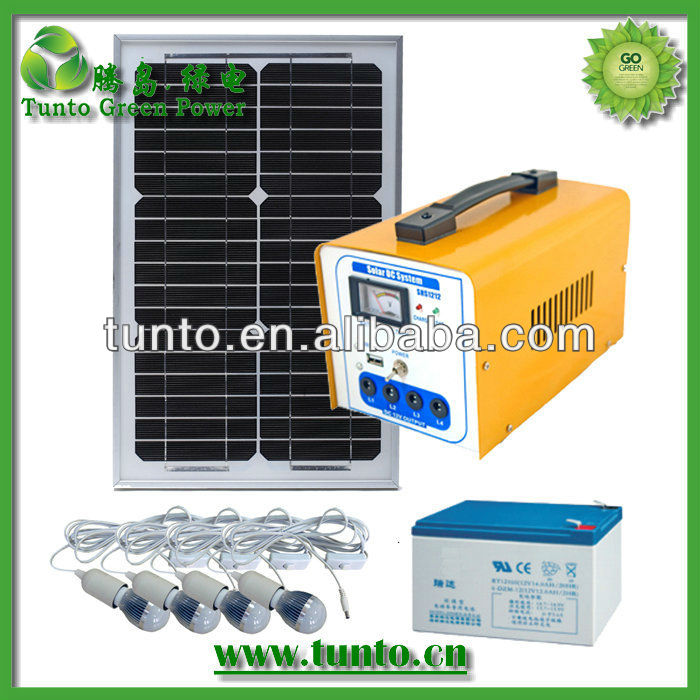 16W solar pannel system for home lighting power supply and charging <strong>electricity</strong>