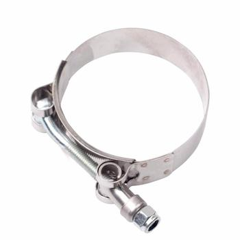 various size stainless steel pipe t-bolt turbo hose clamp