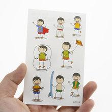 1 шт., наклейки для тату, Милые Детские Водонепроницаемые поддельные спортивные Временные татуировки для мальчиков, наклейки для спортивных...(Китай)