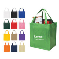 Custom print eco reusable supermarket grocery promotion shopping non woven carry fabric tote cloth bag