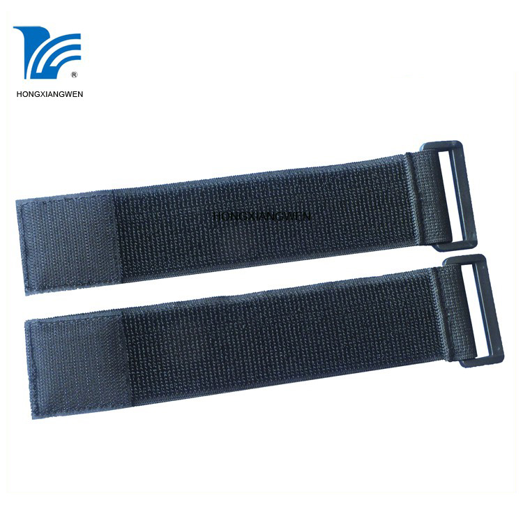 custom 50*350mm elastic hook and loop strap with buckle