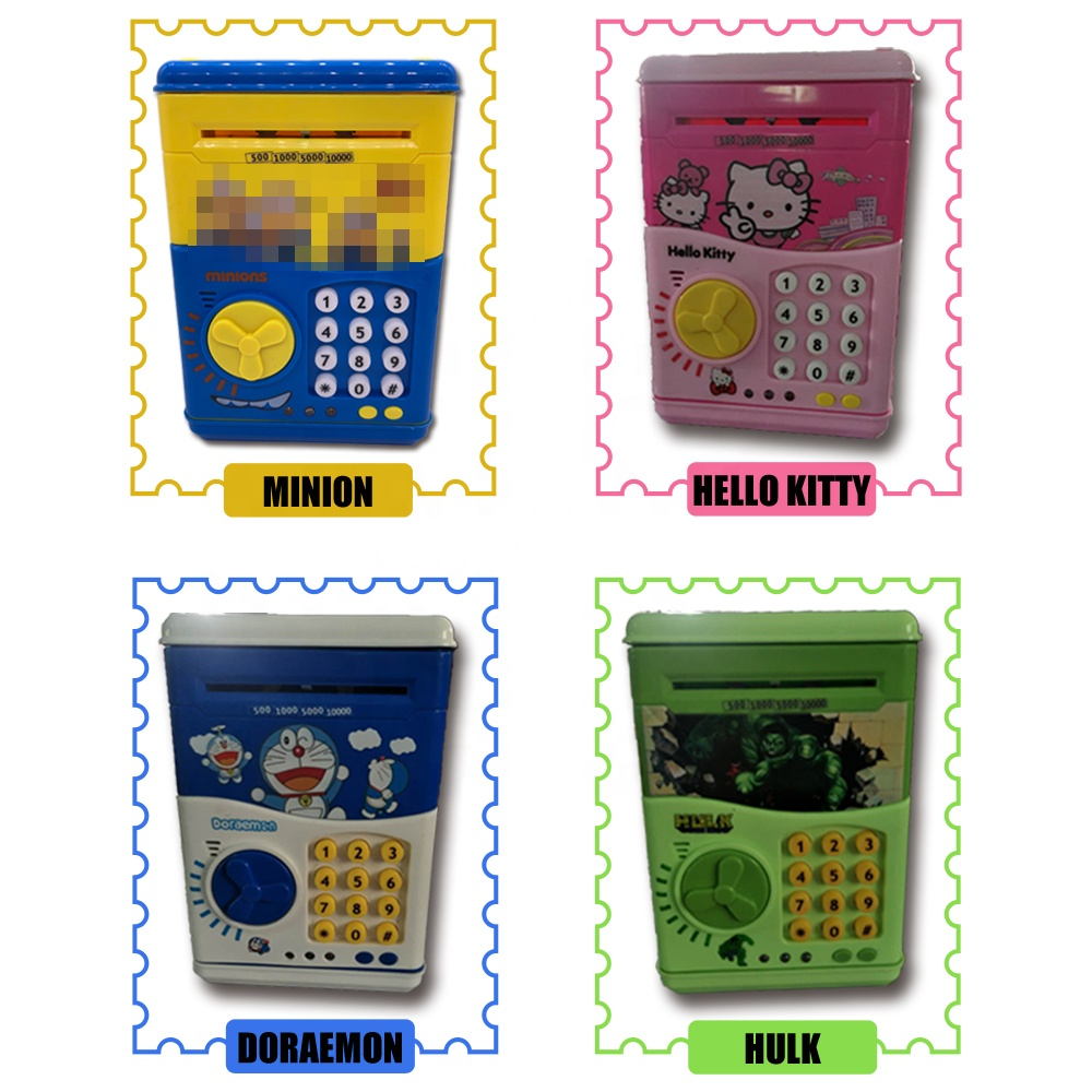 Promotional ATM Piggy Bank With Code Electronic Cartoon Plastic Mini Money Counting Novelty Coin Bank Money Safe Box Toy For Kid