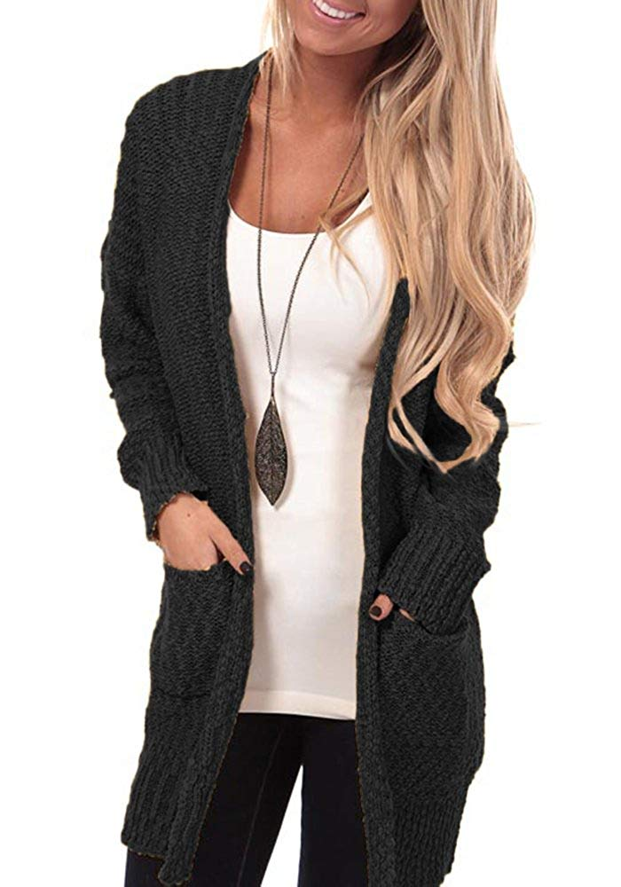 Mafulus Womens Cardigans Open Front Chunky Oversized Cable Knit Long Sleeve Cardigan Sweaters
