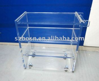 Acrylic Shopping Cart,Acrylic Shopping Trolley,Acrylic Shopping Supplies