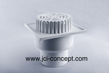 Upvc balcony outlet square base dome buy upvc balcony for Balcony outlet