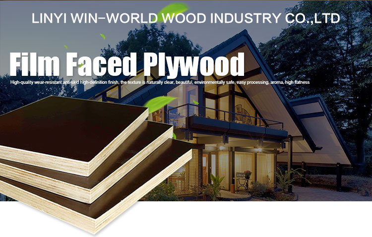 Mdo Plywood Phenolic Board Used Wood For Construction And Concrete