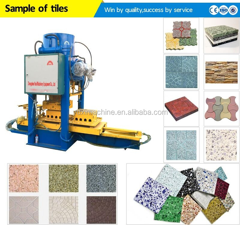 Hydraulic Automatic Press Terrazzo Cement Floor Tile Making Machine/roof  Floor Tiles/cement Tile Molding Making Machine - Buy Terrazzo Cement Floor