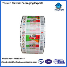 Laminated plastic film roll noodle packaging materials /wheat flour packaging