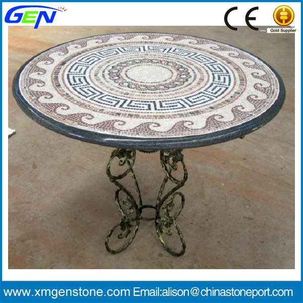 Hot Sale Garden Marble Round Mosaic Table Top