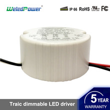 5-18W Triac Dimmable Round Led Driver Constant Current Triac Dimming Led Power Supply