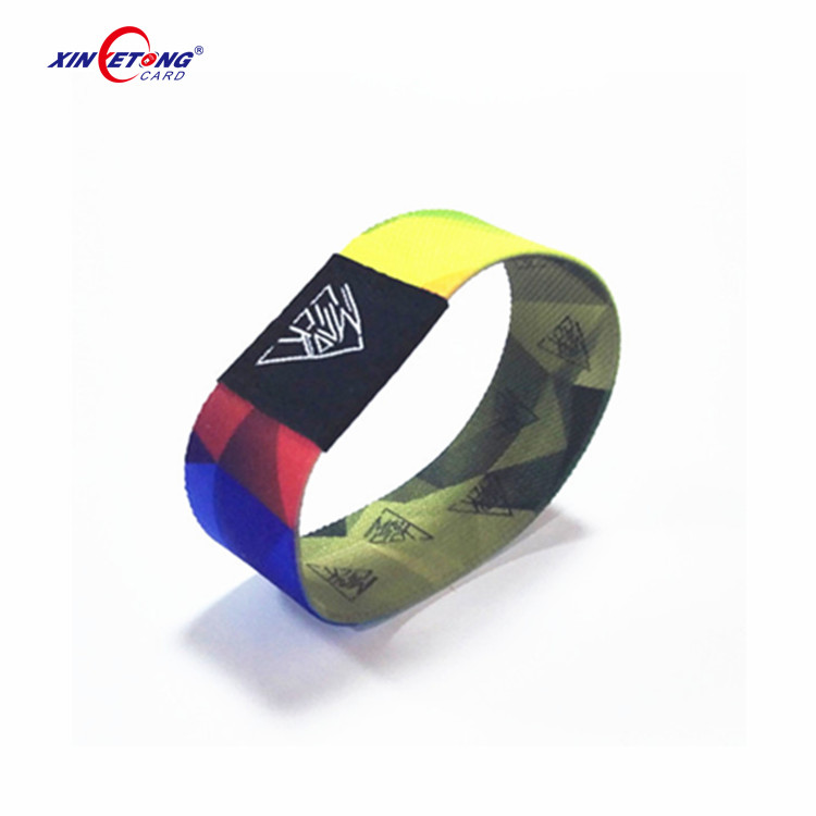 200MM Elastic NFC Smart Bracelet With N-tag213 Chip