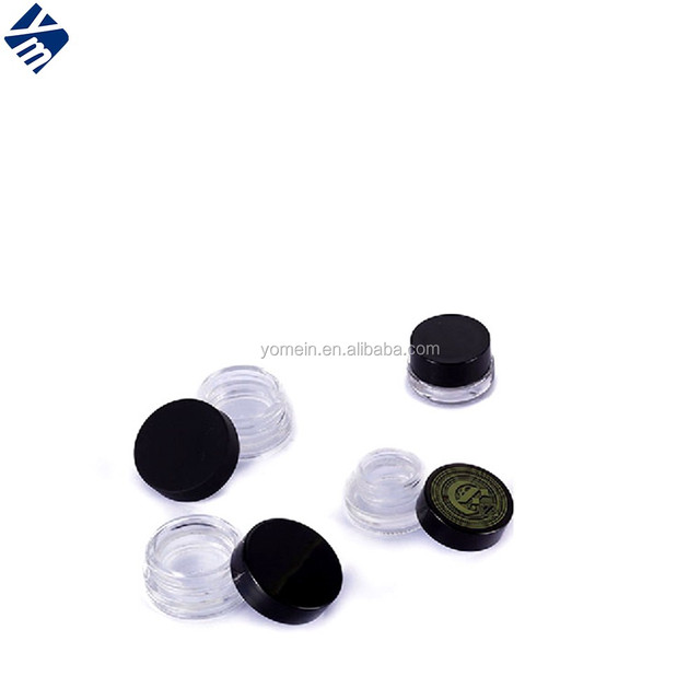 round 5g 10g 15g cosmetic glass jars with screw lid children of proof