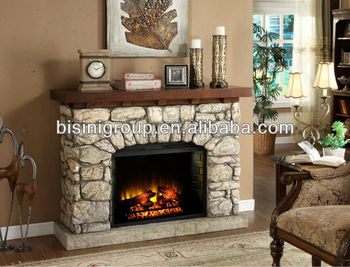 European Style Electric Fireplace Stone Like Bf09 42002 Clical Decor Flame