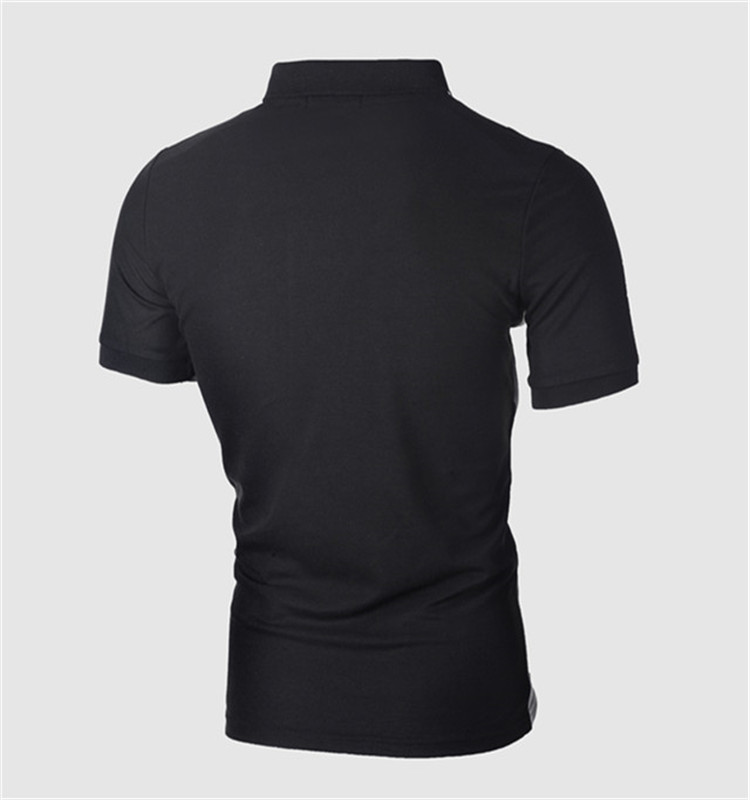 New Model Custom Logo Two Color Polyester Black Golf Polo T Shirts For Men