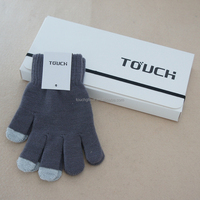 Customized color knitting wool/acrylic touch screen gloves