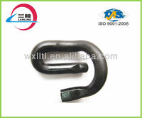 Anti-theft crane rail clip fastening