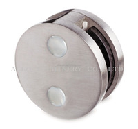 Stainless Steel 304 Floor/Wall To Glass Connector Fix Clip Round Clamp