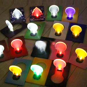 Multi Color LED Party Decorate Fold Card Panel Lamp Happy Gift