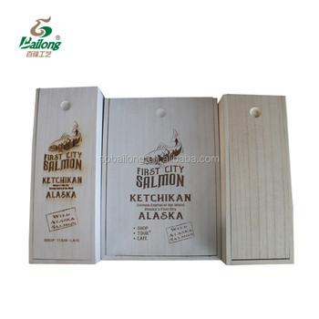 Professional factory custom natural colour laser cutting unfinished wooden wine gift box