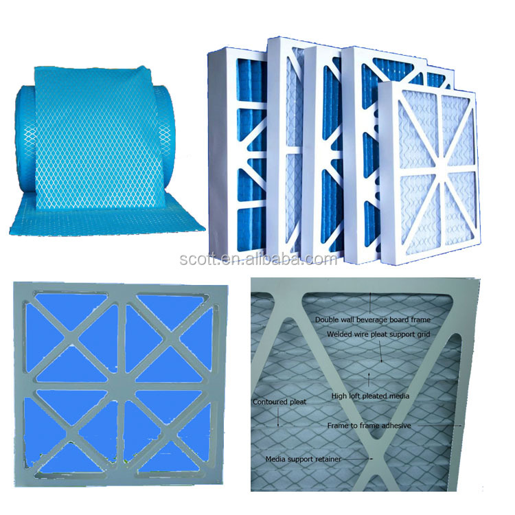 Economical disposable panel filter for clean rooms