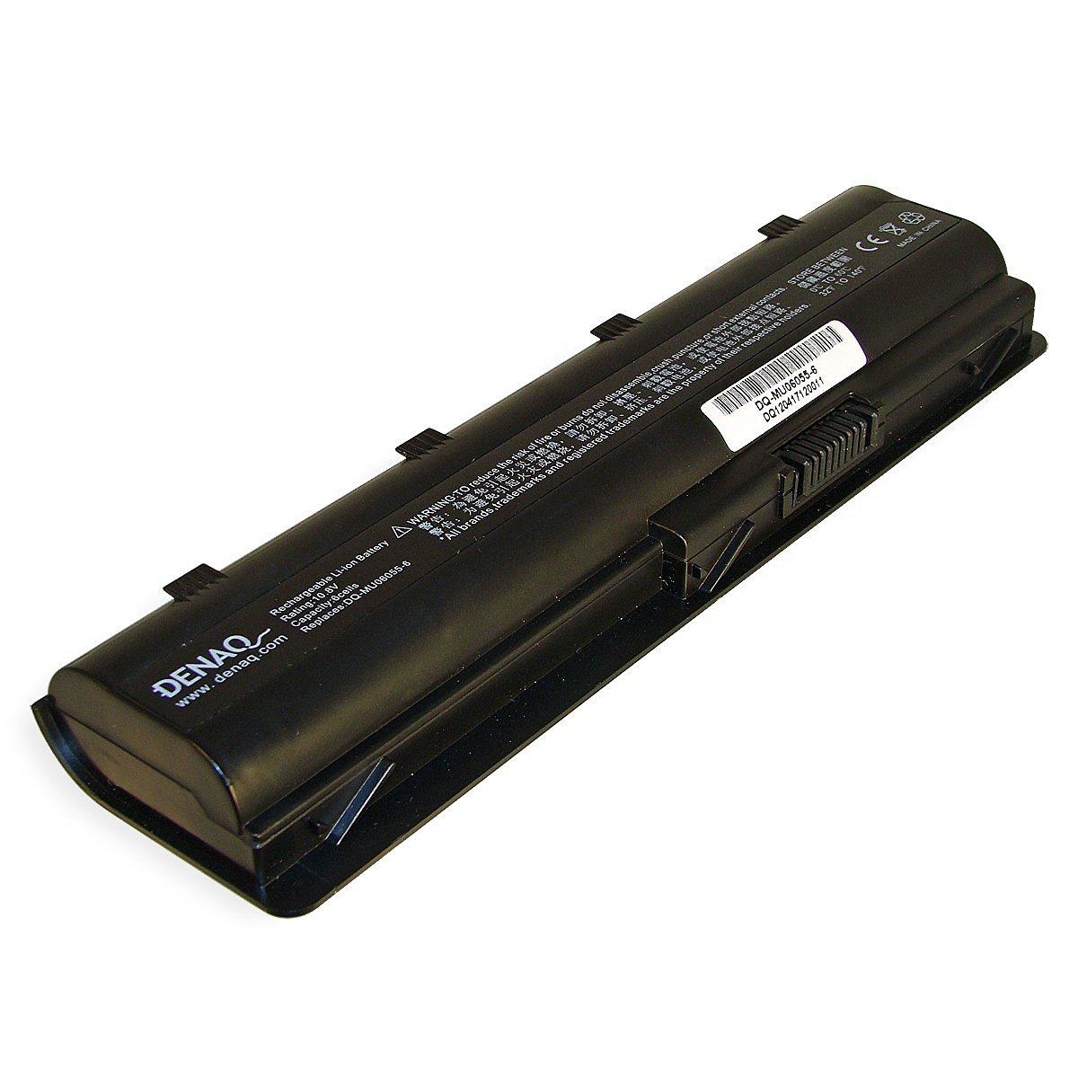 DENAQ 6-Cell 56/Whr/5200mAh Li-Ion Laptop Battery for HP/Compaq PAVILION DV7 Series, HP Envy 17, COMPAQ PRESARIO CQ32, COMPAQ PRESARIO CQ42, COMPAQ PRESARIO CQ62, HP G42-100, HP G62-100, HP G72-100; Part#: DQ-MU06055-6