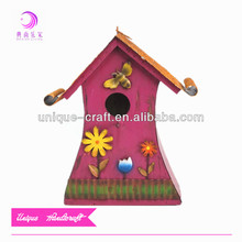 garden new unfinished wooden bird house wholesale decoration handmade birdcage