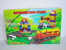 Plastic electronic building block bricks construct toy