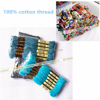 Factory supply 100% cotton thread price with DMC color card from China manufactor