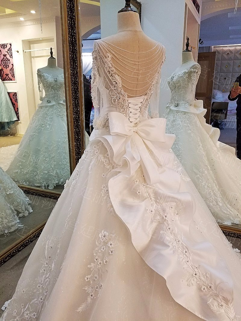 Ls50321 Muslim Wedding Gown Lehenga Bridal Wedding Dress Bling Ball ...