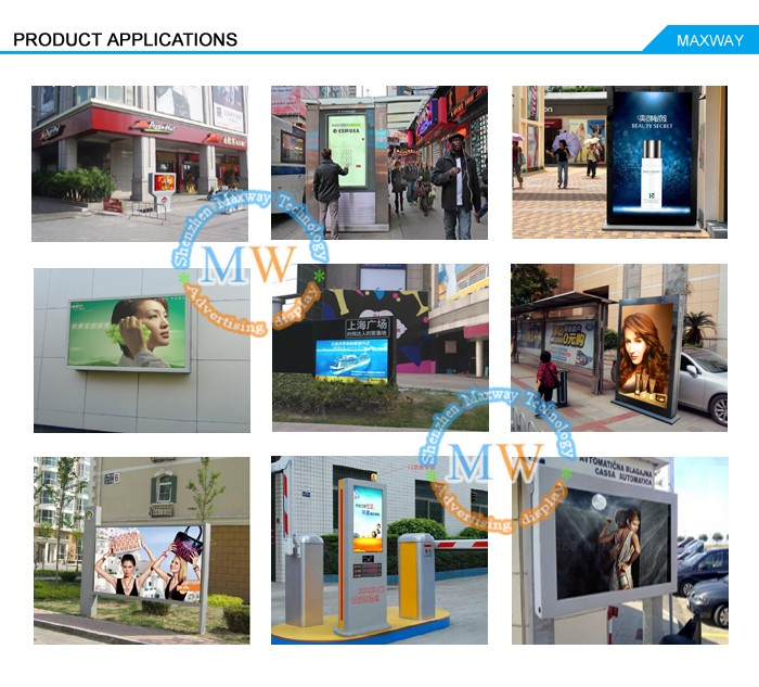 65 Inch High Brightness Lcd Ad Display Outdoor Digital Signage ...
