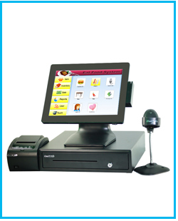 high quality coffee shop pos all in one pos terminal cash register with cash drawer 80 pos printer