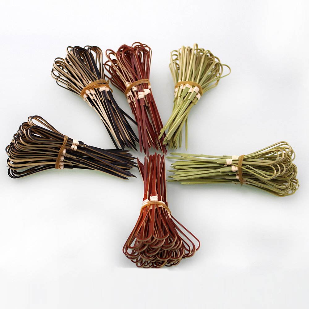 bamboo natural color bamboo flower stick bamboo skewer for fruit pick with custom length