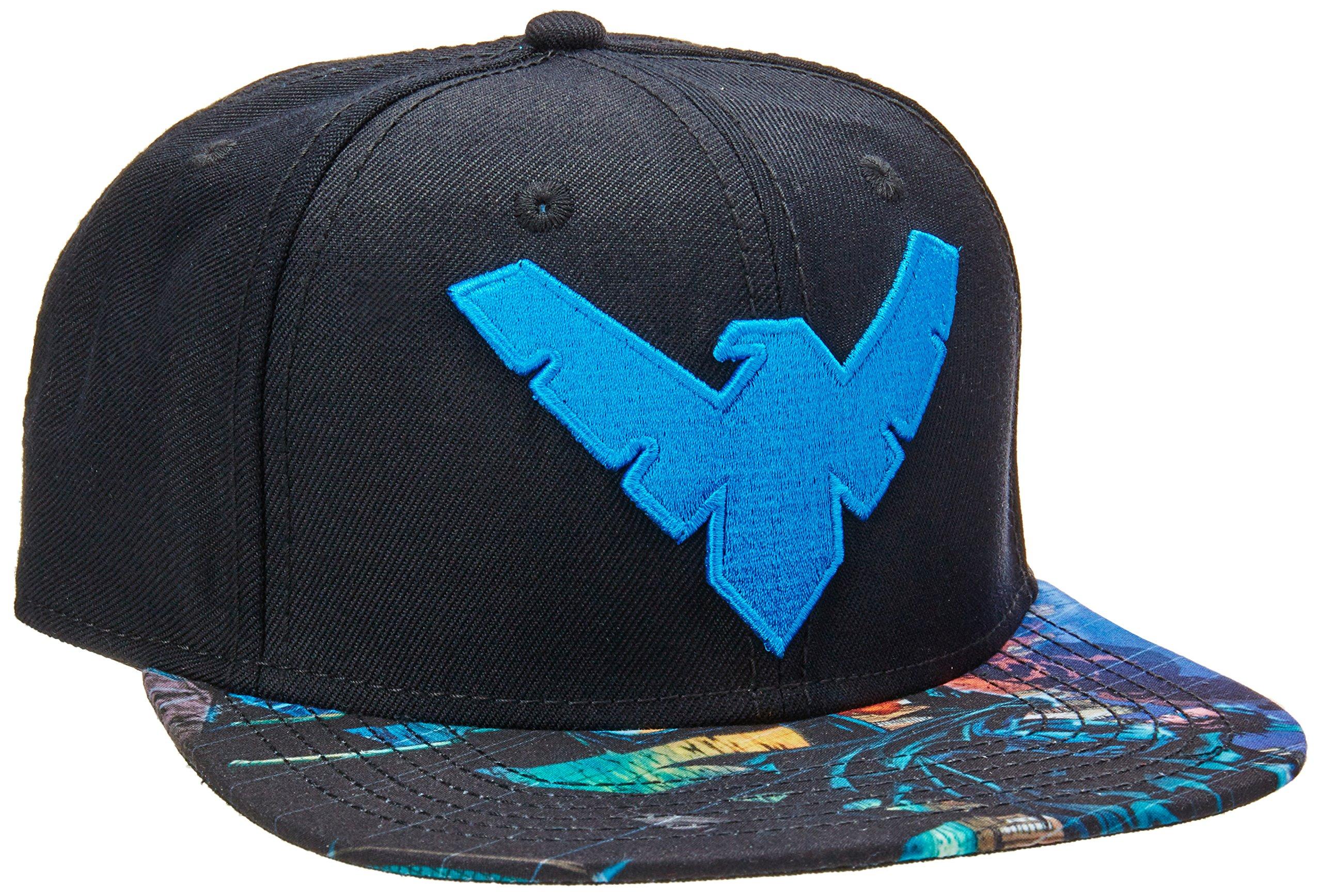 BIOWORLD DC Comics Batman Nightwing Logo Sublimated Bill Snapback Cap 0429155e9b80