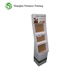 Custom cardboard floor tea bag display showcase for supermarket promotion
