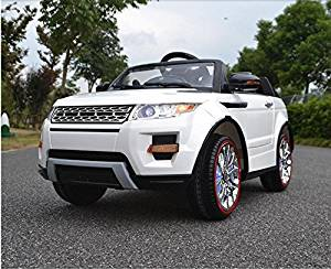 Ride on car Range Rover style. Electric car with remote control. For kids from 2 to 7 years. Battery powered 12V total. Two electric motors. MP3. 2 Battery. Maximum speed of 5-7km/h. Seat belt.