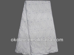 Wholesale white dress lace african swiss voile lace with eyelet holes