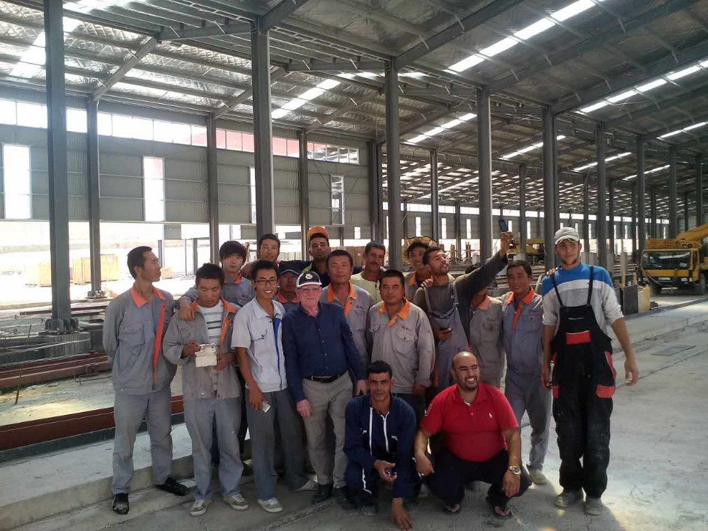 China Low Cost Steel Building Prefabricated Industrial Warehouse