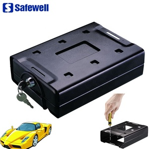 Safewell CS220 Small Metal Car Safety Deposit Boxes Security Key Lock Box