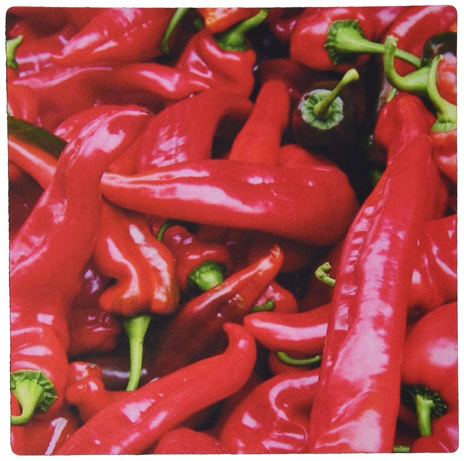 3dRose LLC 8 x 8 x 0.25 Inches Red Hot Peppers Chili Peppers Pattern Mouse Pad (mp_46856_1)