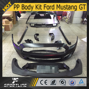 jc auto parts front and rear bumper pp body kit for mustang gt