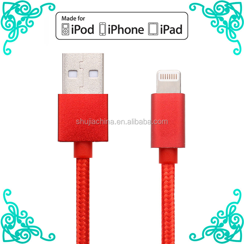 MFI Braided Nylon USB Cable For iPhone 7 , iPhone 6 Cable iPhone 7 Cable