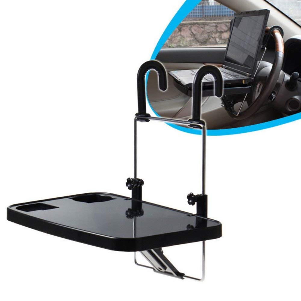 SZSS-CAR Car Vehicle Seat Foldable Auto Seat Back Pc Mount Tray Black Table Laptop Notebook Desk Table Car Dining Food Drink Cup Holder
