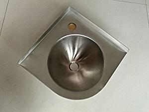 Get Quotations · RV Caravan Camper SS Triangle Round Hand Wash Basin Corner  Sink GR 596