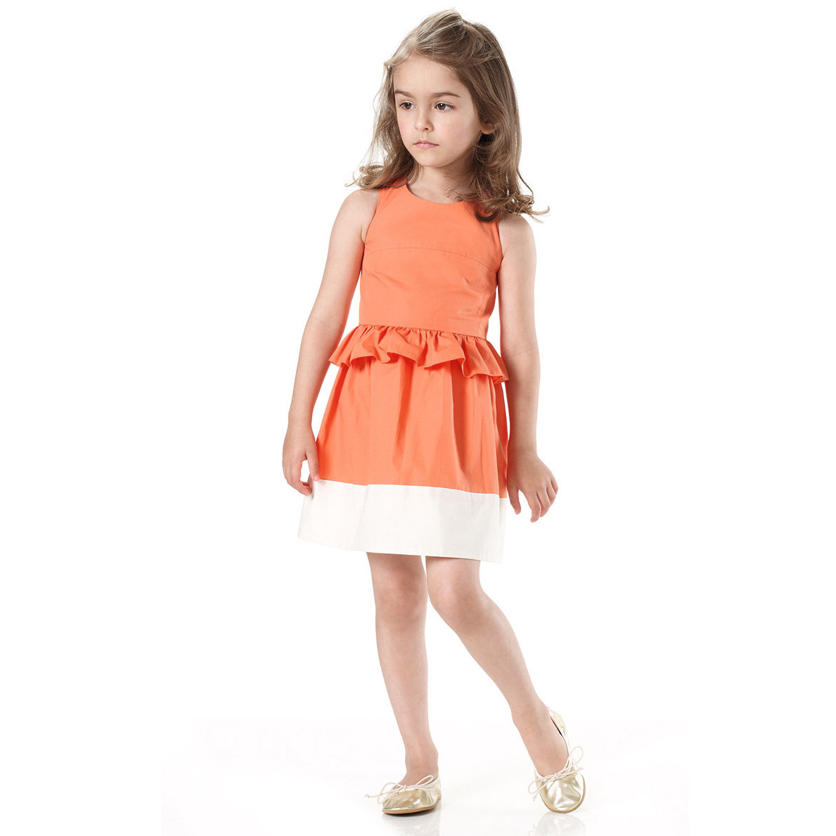 a57ec6a67a4 Detail Feedback Questions about Summer Girls Sleeveless Princess Orange Sundress  Kids Fashion Lotus Leaf Waist Party Prom Child Dress For Children Clothing  ...