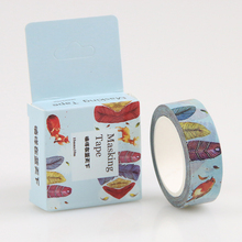 1 Pc / Pack Size 15 Mm*10m Diy Wander In The Blue Sky Washi Tapes / Masking Tape / Decorative Adhesive Tapes