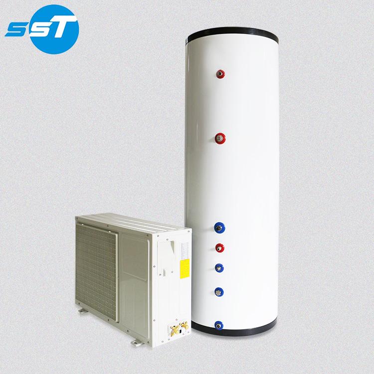diy dual energy heat pump water domestic heat pump hot water heater 300l